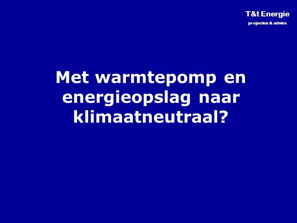 Met warmtepomp en energieopslag naar klimaatneutraal? T&t Energie projecten & advies
