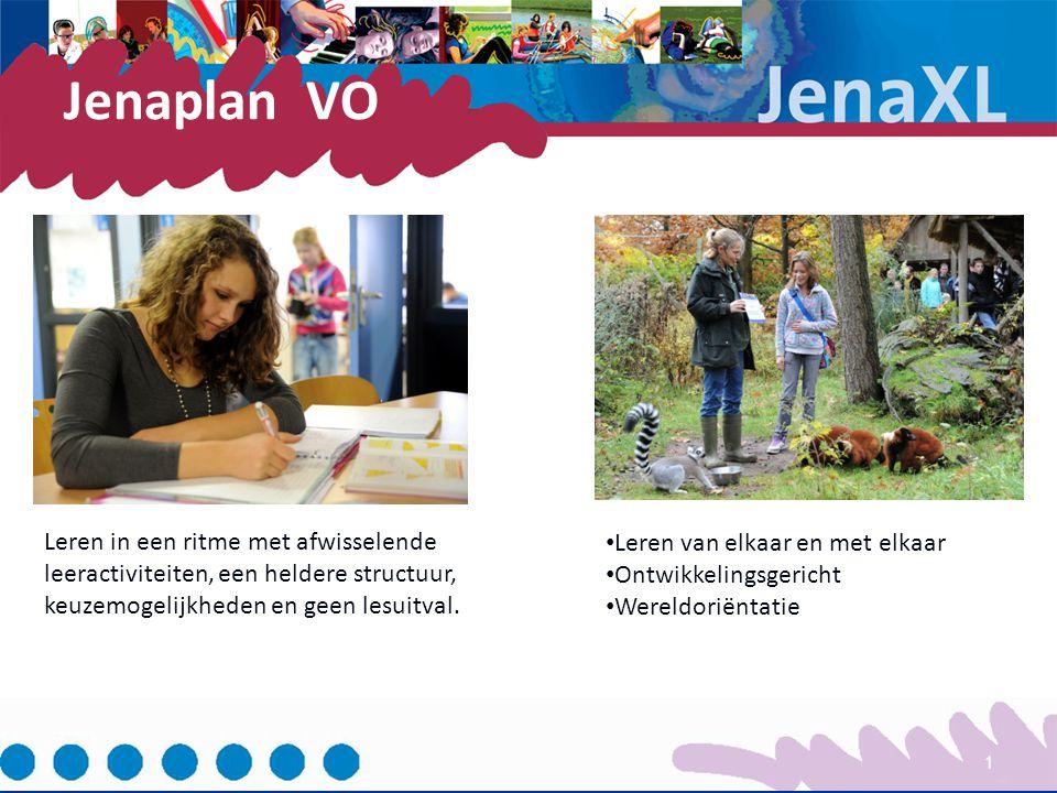 Jenaplan VO 1 Leren in een ritme met afwisselende leeractiviteiten, een heldere structuur, keuzemogelijkheden en geen lesuitval. Leren van elkaar en m