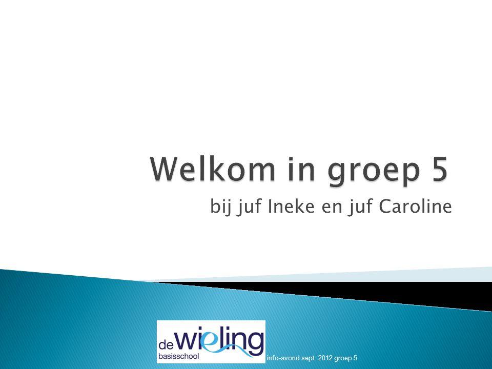 bij juf Ineke en juf Caroline info-avond sept. 2012 groep 5