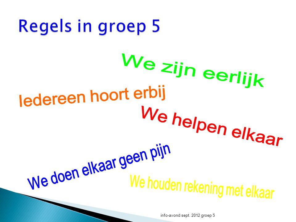 Taal info-avond sept. 2012 groep 5