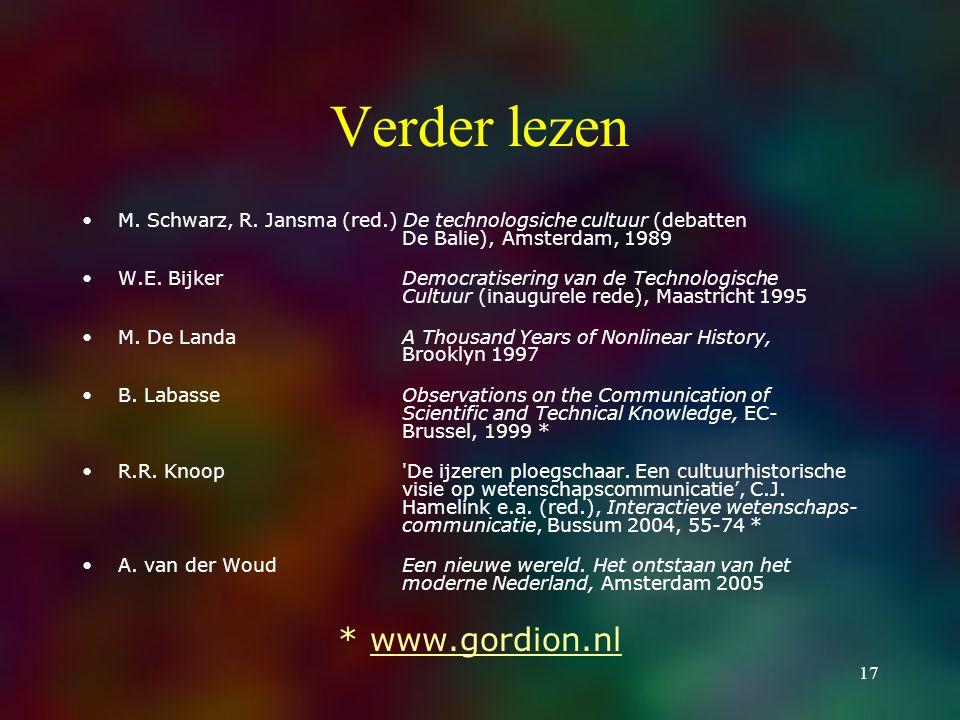 17 Verder lezen M. Schwarz, R.