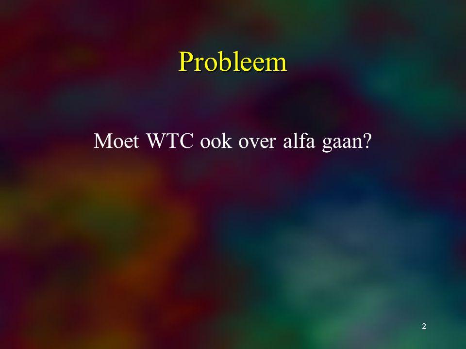2 Probleem Moet WTC ook over alfa gaan