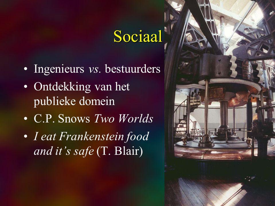6 Sociaal Ingenieurs vs. bestuurders Ontdekking van het publieke domein C.P.