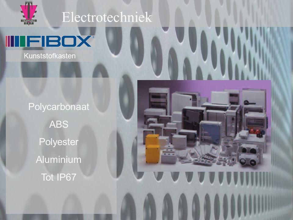 Electrotechniek Polycarbonaat ABS Polyester Aluminium Tot IP67 Kunststofkasten