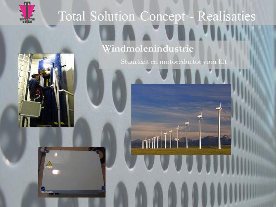 Windmolenindustrie Stuurkast en motoreductor voor lift Total Solution Concept - Realisaties