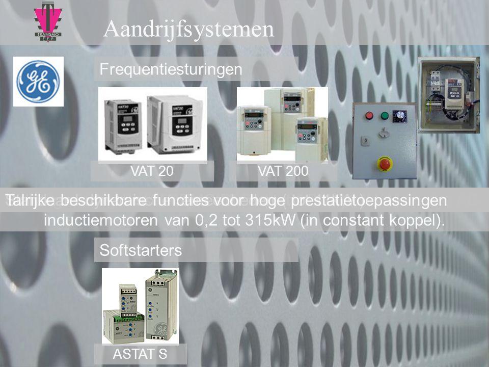 Aandrijfsystemen Frequentiesturingen Softstarters ASTAT S VAT 20VAT 200 Familie enkel- of driefasige frequentiereglaars voor driefasige AC inductiemot