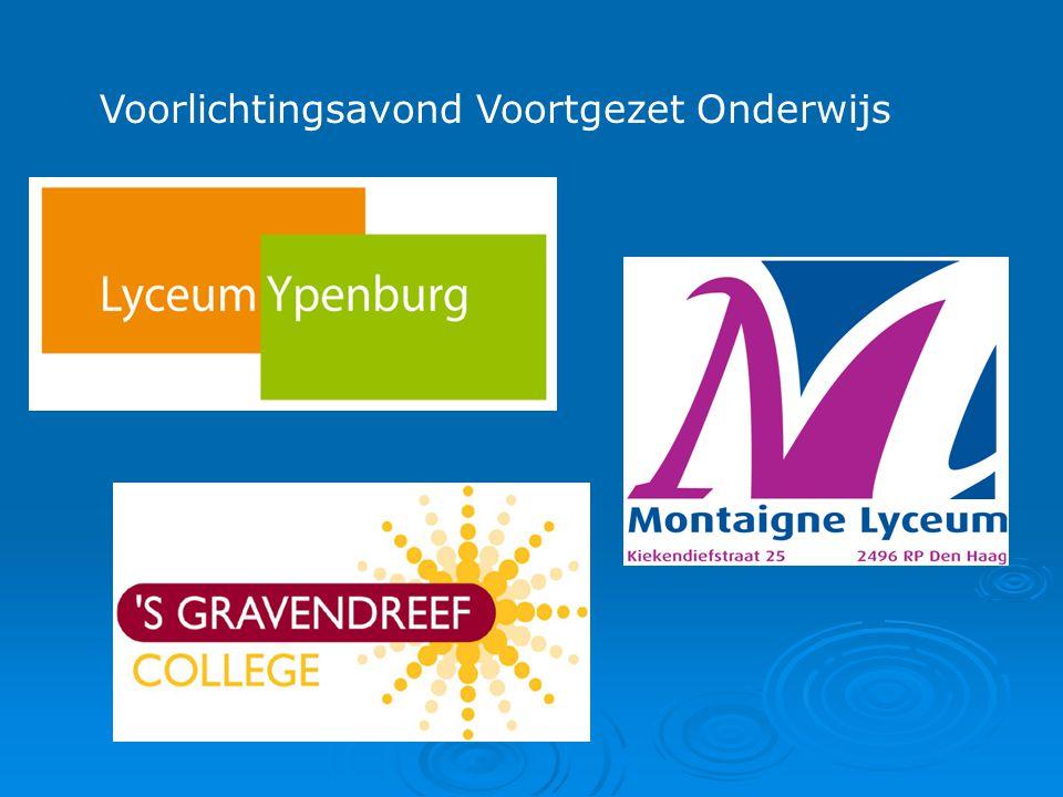 Informatieavond voortgezet onderwijs  voorstelronde  het voortgezet onderwijs in het algemeen  aanmelden – procedure – criteria  het onderwijsaanbod op Ypenburg
