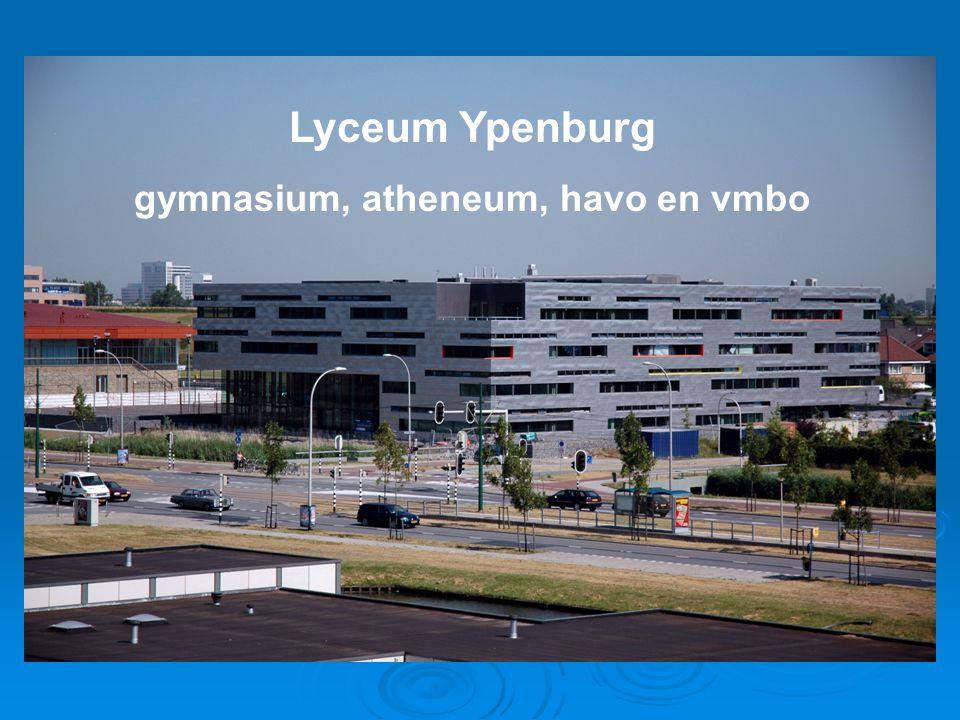 Lyceum Ypenburg gymnasium, atheneum, havo en vmbo