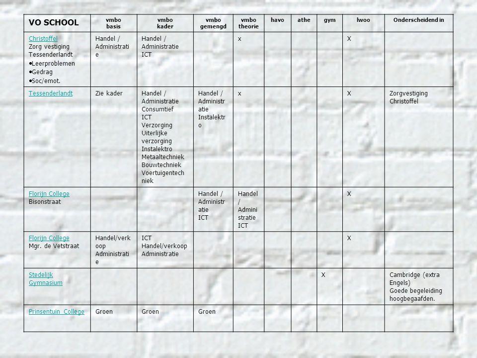 VO SCHOOL vmbo basis vmbo kader vmbo gemengd vmbo theorie havoathegymlwooOnderscheidend in Christoffel Zorg vestiging Tessenderlandt  Leerproblemen 