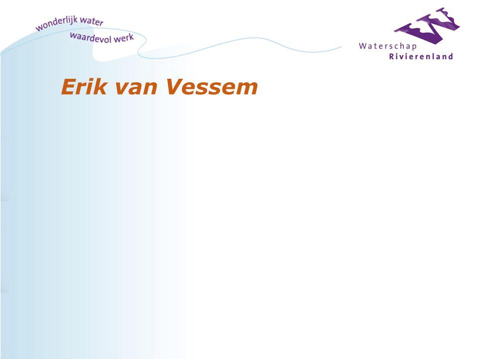 Waterschap Rivierenland l Ontstaan - 2003 Fusie 5 waterschappen (500 fte) - 2005 3 waterschappen geïntegreerd (700 fte) Taken Waterbeheer - Veiligheid - Wegen - Dijken - Muskusrattenbestrijding - Rioolwaterzuivering