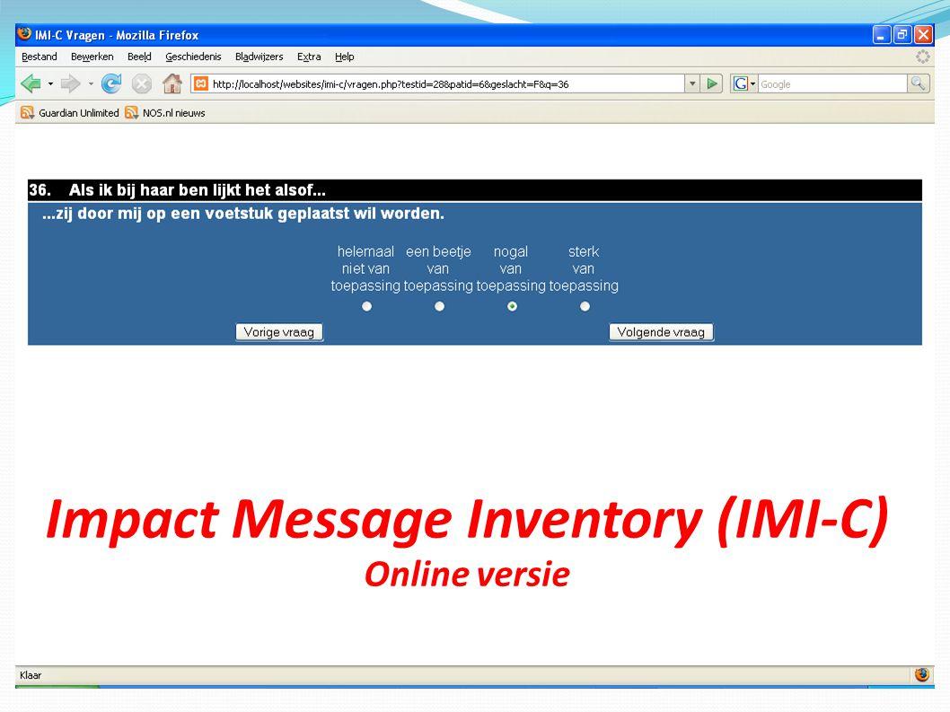 Impact Message Inventory (IMI-C) Online versie