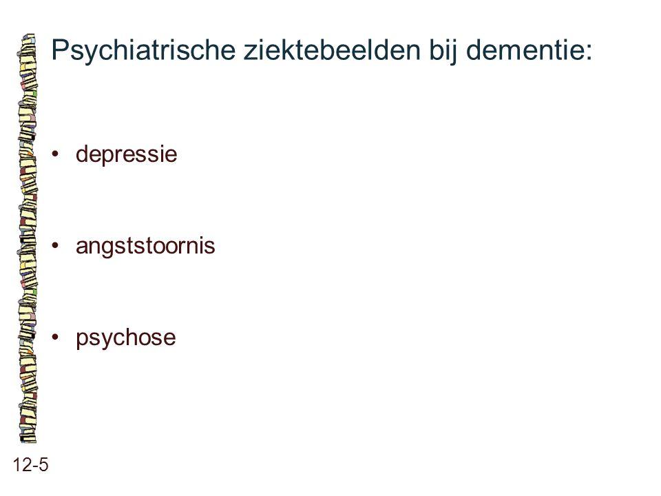Psychiatrische ziektebeelden bij dementie: 12-5 depressie angststoornis psychose