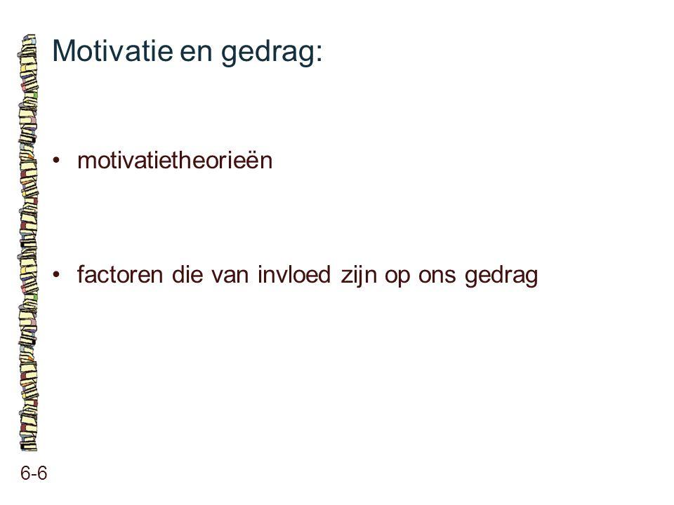 Motivatie en gedrag: 6-6 motivatietheorieën factoren die van invloed zijn op ons gedrag