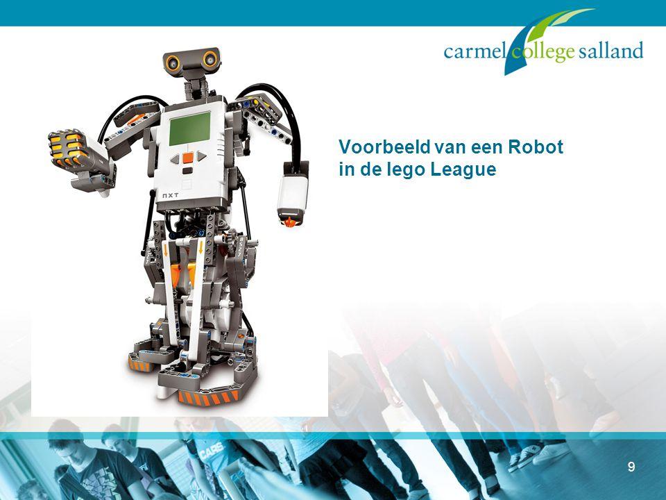 Voorbeeld van een Robot in de lego League 9