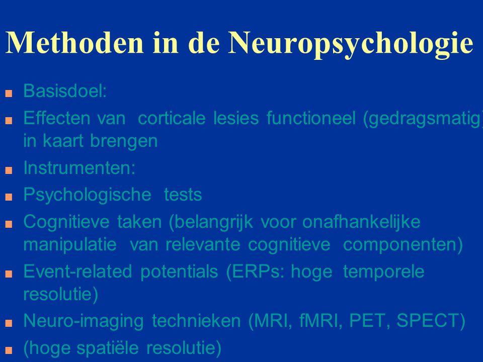 Methoden n Subtractie (vooral bij neuro-imaging: activatie taak B - activatie taak A).