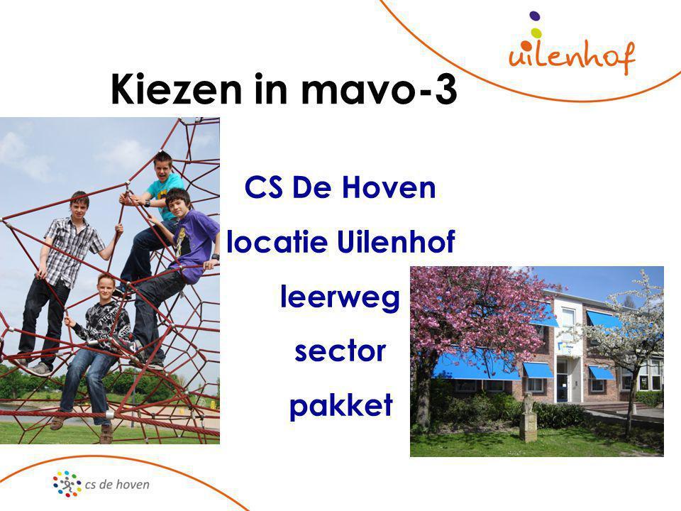 Kiezen in mavo-3 CS De Hoven locatie Uilenhof leerweg sector pakket