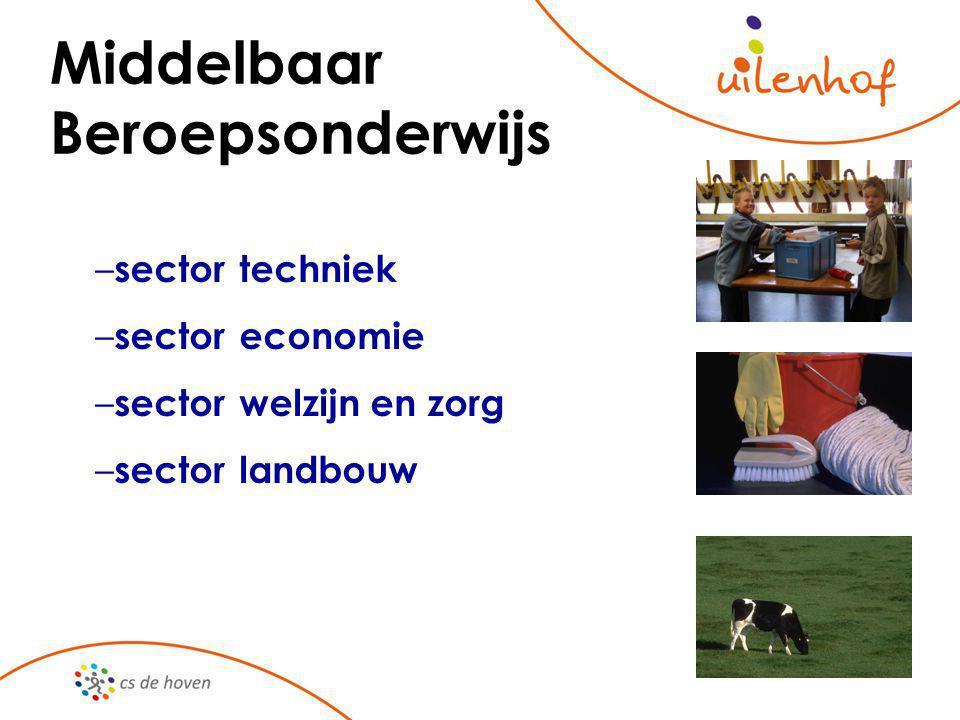 Middelbaar Beroepsonderwijs – sector techniek – sectoreconomie – sectorwelzijn en zorg – sectorlandbouw
