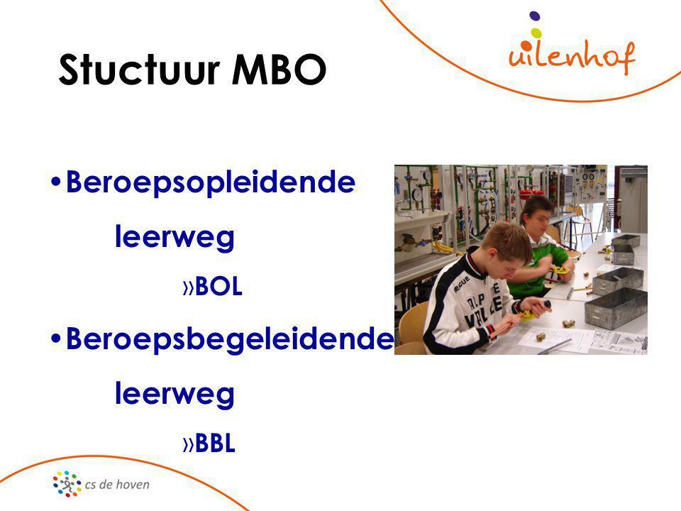 Stuctuur MBO Beroepsopleidende leerweg » BOL Beroepsbegeleidende leerweg » BBL
