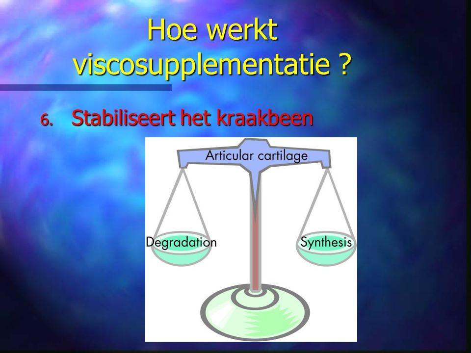 Hoe werkt viscosupplementatie ? 6. Stabiliseert het kraakbeen