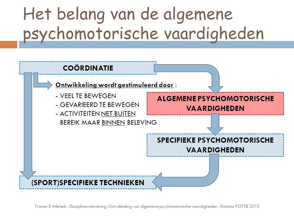 Het belang van de algemene psychomotorische vaardigheden Trainer B Atletiek - Disciplineoriëntering: Ontwikkeling van algemene psychomotorische vaardi