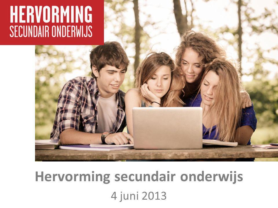 Hervorming secundair onderwijs 4 juni 2013