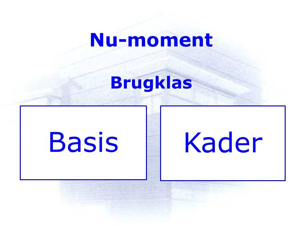 Nu-moment Brugklas Basis Kader