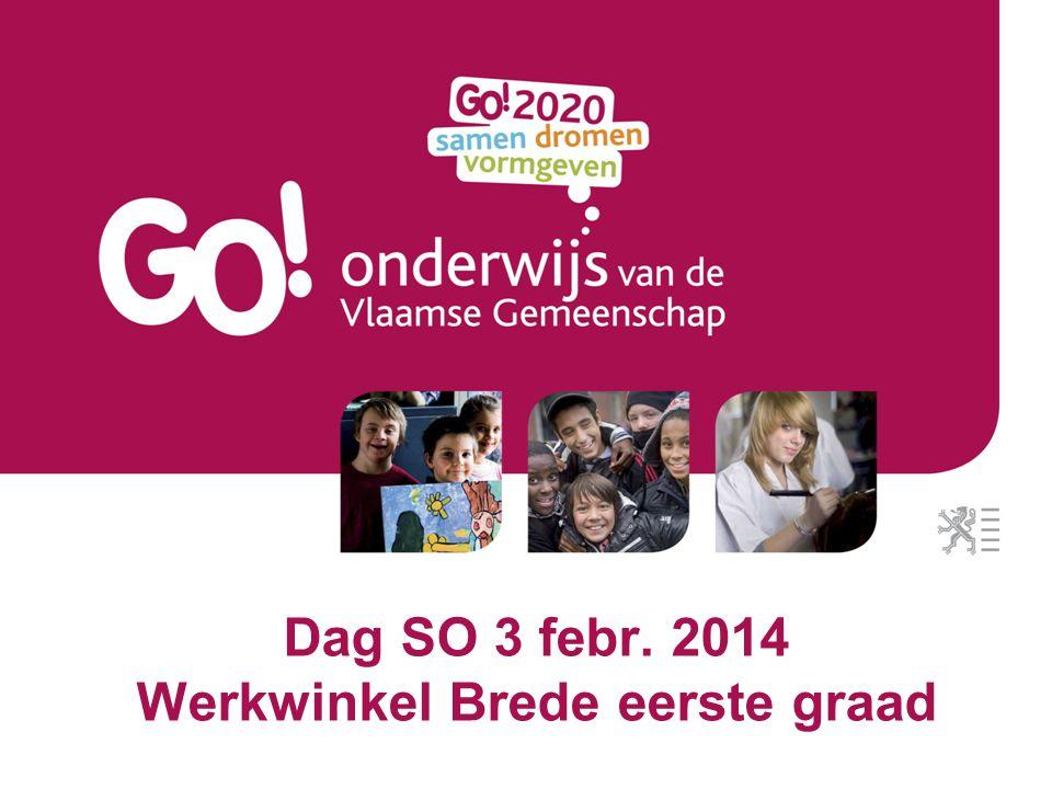 Dag SO 3 febr. 2014 12 Schakelblok Voorstel GO!
