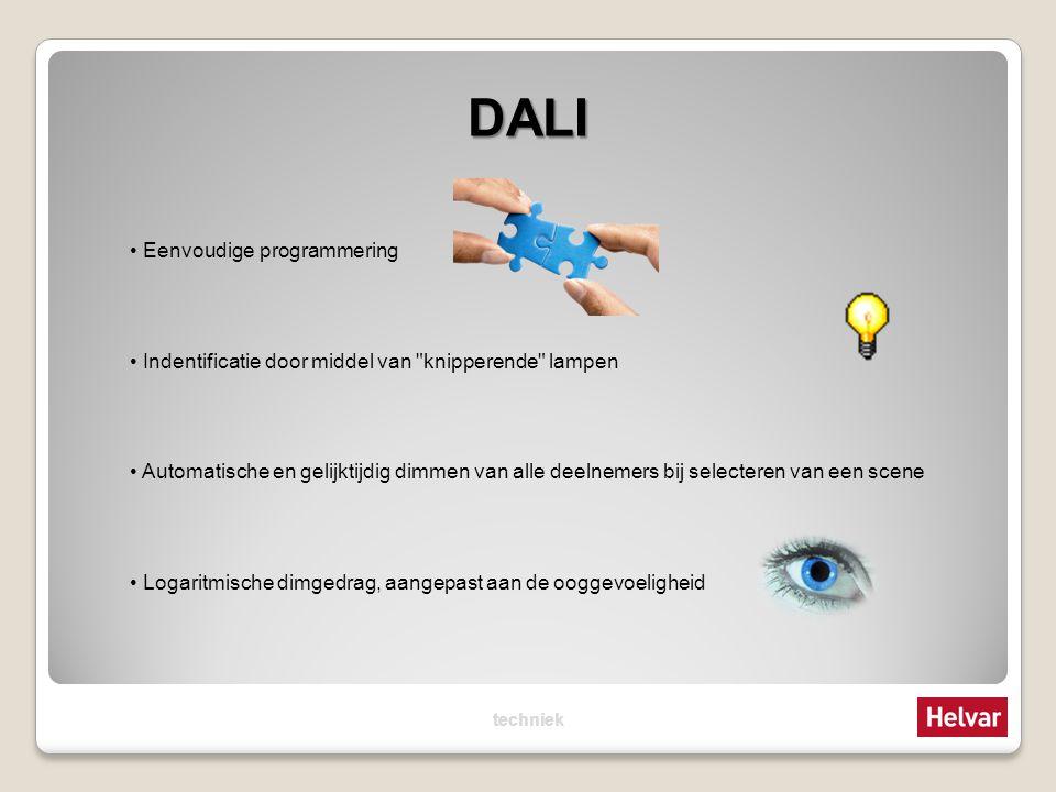 DALI Eenvoudige programmering Indentificatie door middel van