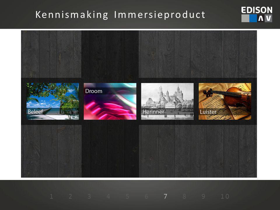 1 2 3 4 5 6 7 8 9 10 Kennismaking Immersieproduct