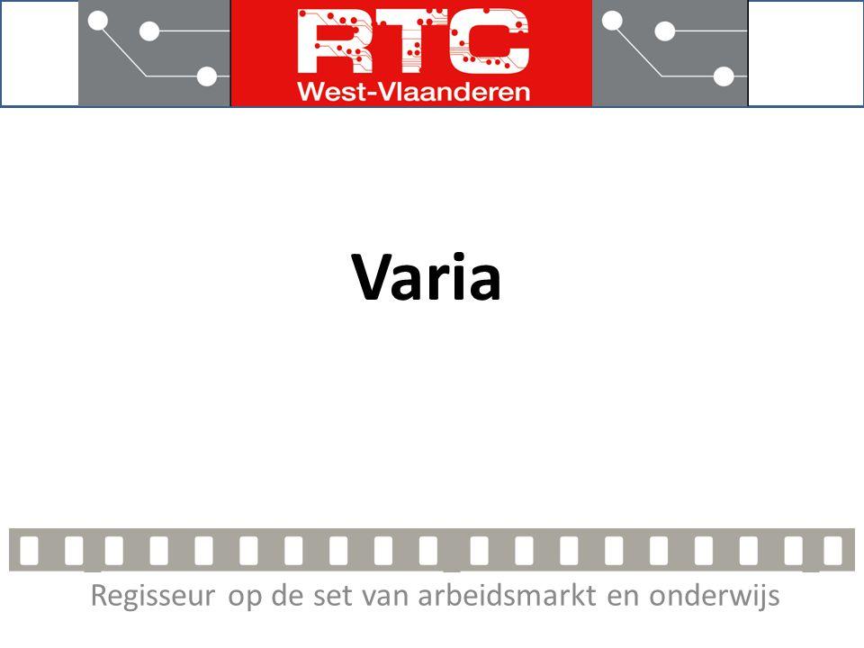 Regisseur op de set van arbeidsmarkt en onderwijs Varia