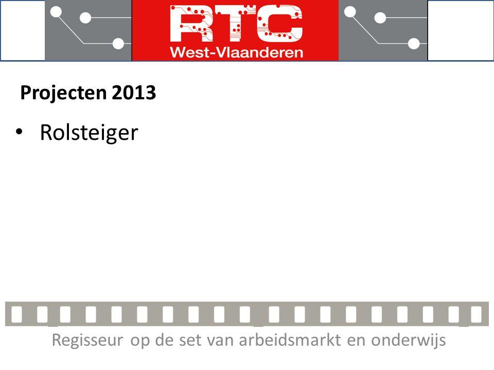 Regisseur op de set van arbeidsmarkt en onderwijs Projecten 2013 Rolsteiger