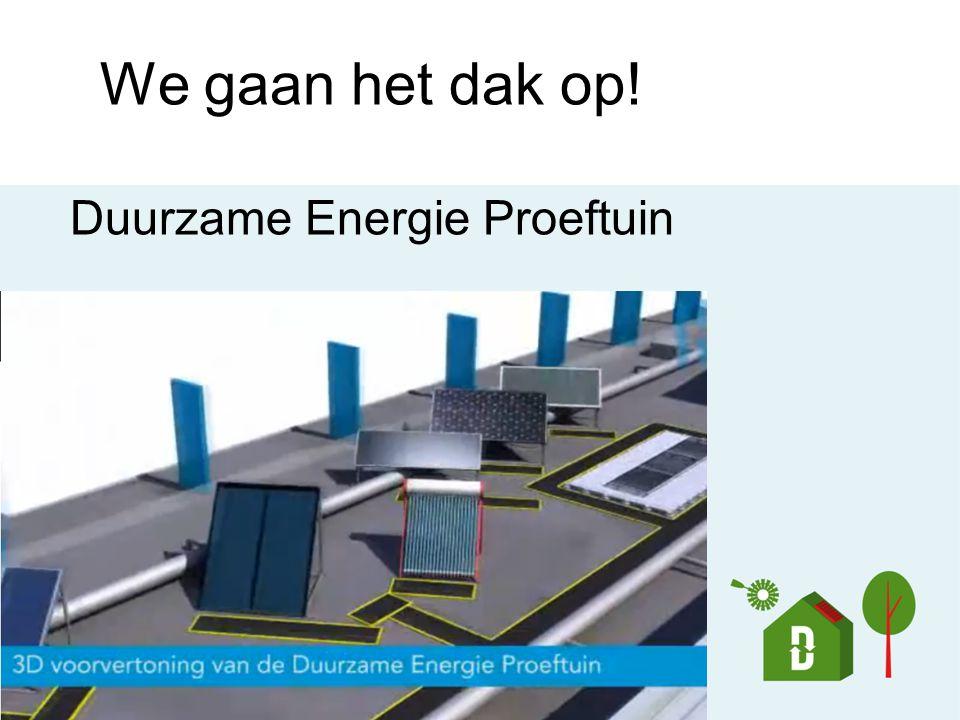 We gaan het dak op! Duurzame Energie Proeftuin