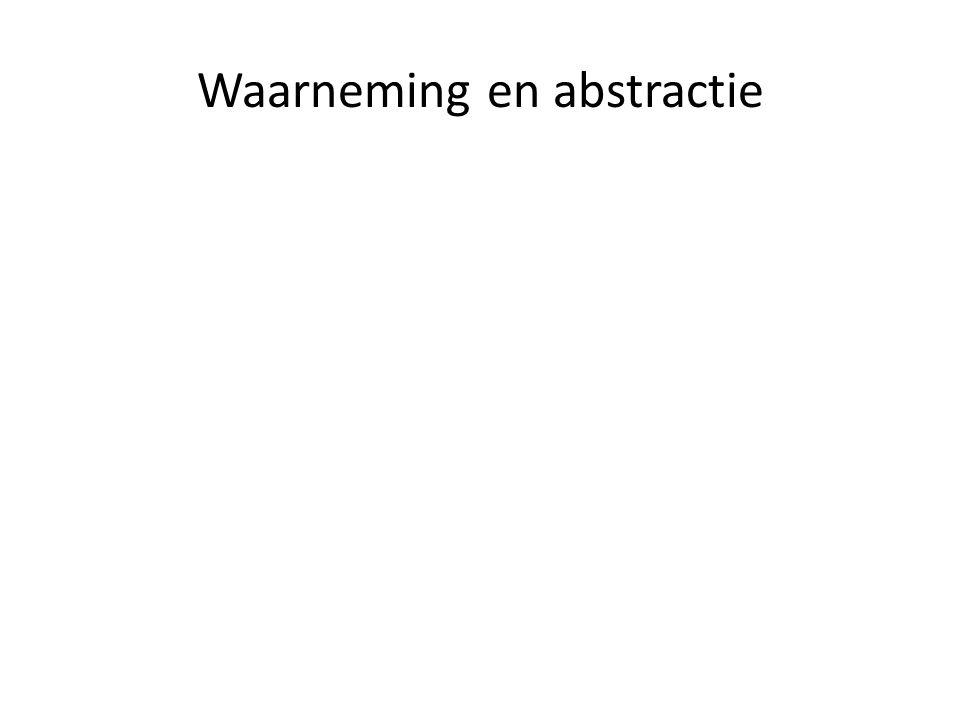 Waarneming en abstractie