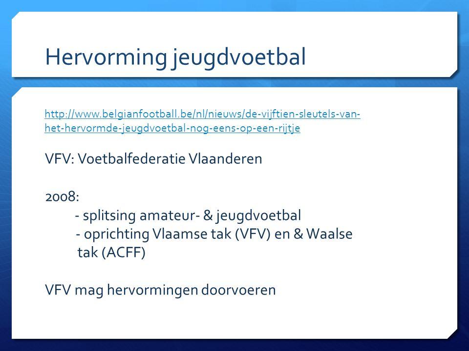 http://www.belgianfootball.be/nl/nieuws/de-vijftien-sleutels-van- het-hervormde-jeugdvoetbal-nog-eens-op-een-rijtje VFV: Voetbalfederatie Vlaanderen 2