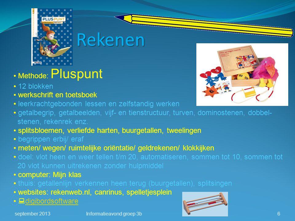 Methode: Pluspunt 12 blokken werkschrift en toetsboek leerkrachtgebonden lessen en zelfstandig werken getalbegrip, getalbeelden, vijf- en tienstructuu