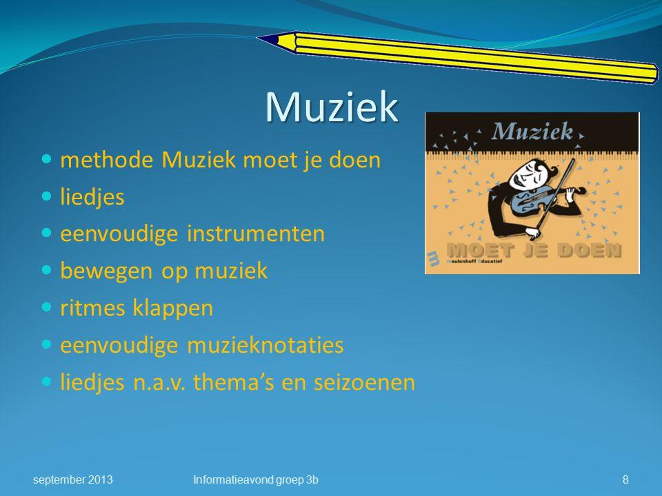 Muziek methode Muziek moet je doen liedjes eenvoudige instrumenten bewegen op muziek ritmes klappen eenvoudige muzieknotaties liedjes n.a.v. thema's e