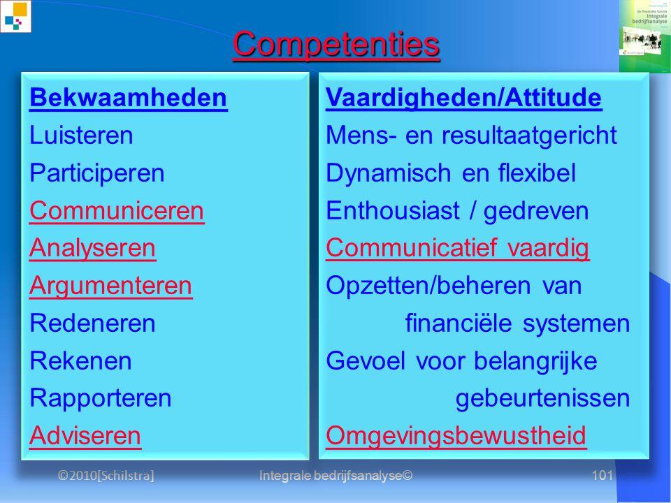 Integrale bedrijfsanalyse©100 3.1 Solvabiliteit Solvabiliteit
