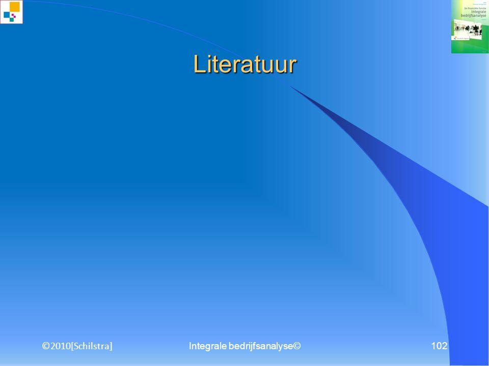 ©2010[Schilstra] Integrale bedrijfsanalyse©101 Competenties Bekwaamheden Luisteren Participeren Communiceren Analyseren Argumenteren Redeneren Rekenen