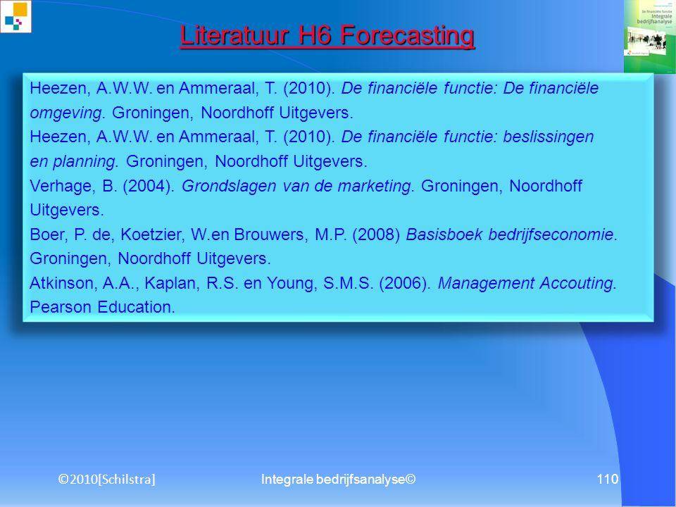 Integrale bedrijfsanalyse©109 Literatuur H5 Groeimanagement Literatuur H5 Groeimanagement Verhage, B.