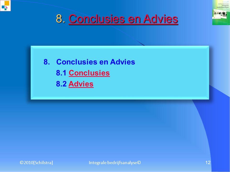 ©2010[Schilstra]Integrale bedrijfsanalyse© 11 7. SWOT-analyse 7.1 Strategische vraagstukken 7.2 Stappenplan SWOT-analyseStappenplan SWOT-analyse 7. SW