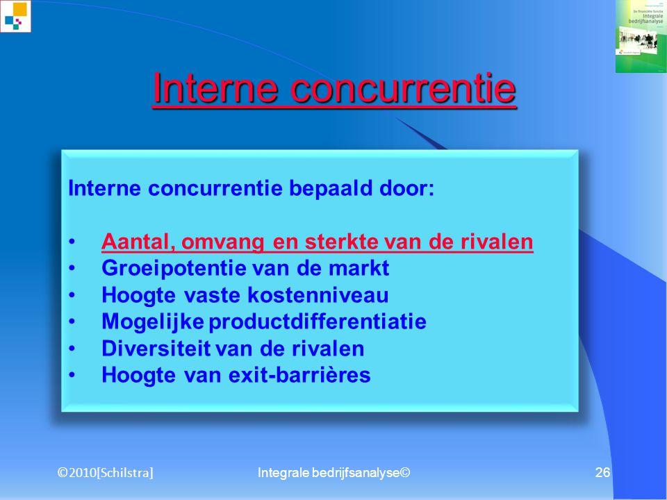 Integrale bedrijfsanalyse©25 Integrale bedrijfsanalyse © Integrale bedrijfsanalyse © Onderwerpen: M&O, waaronder visie, missie en doelstellingen Exter