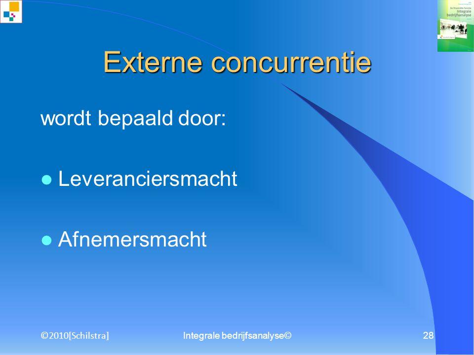 Integrale bedrijfsanalyse©27 voorbeeld concentratie voorbeeld concentratie C 4 -graad: 58% C 4 -graad: 88% Terug naar SGR ©2010[Schilstra]