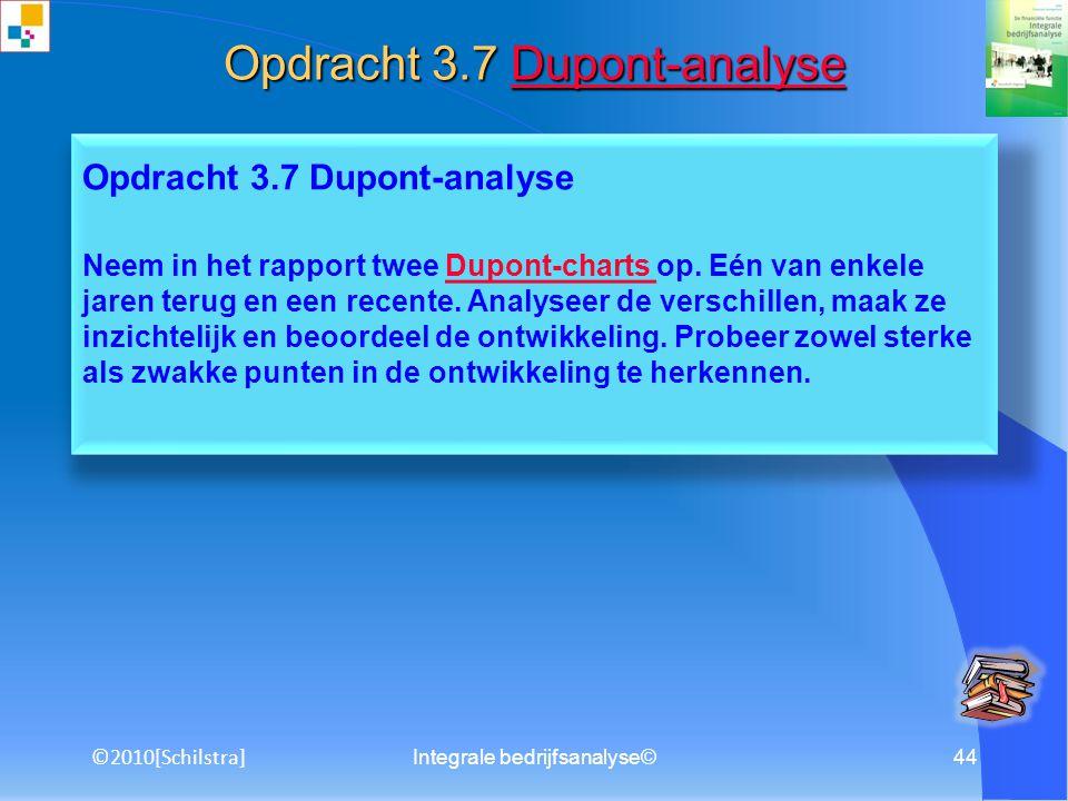 Integrale bedrijfsanalyse©43 Opdracht 3.6 Omgevingsanalyse Maak een omgevingsanalyse van de onderneming door aan de hand van figuur 3.10 en 3.11 in pa