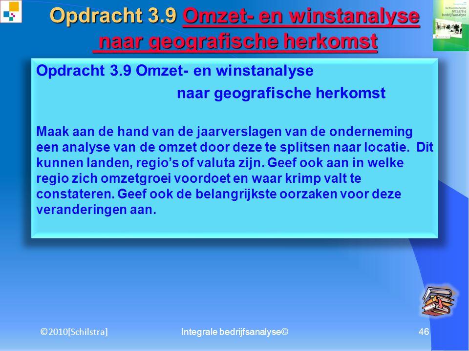Integrale bedrijfsanalyse©45 Opdracht 3.8 Beleggingskengetallen Maak met het oog op de opdracht voor het maken van een professioneel beleggersadvies e