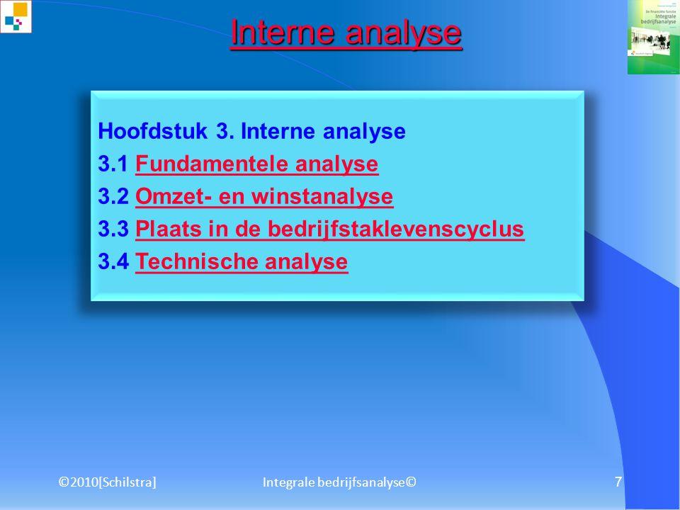 ©2010[Schilstra]Integrale bedrijfsanalyse© 6 3. Bedrijfstakanalyse Bedrijfstakanalyse Analyse van een bedrijfstak volgens een zelf gekozen methodiek:
