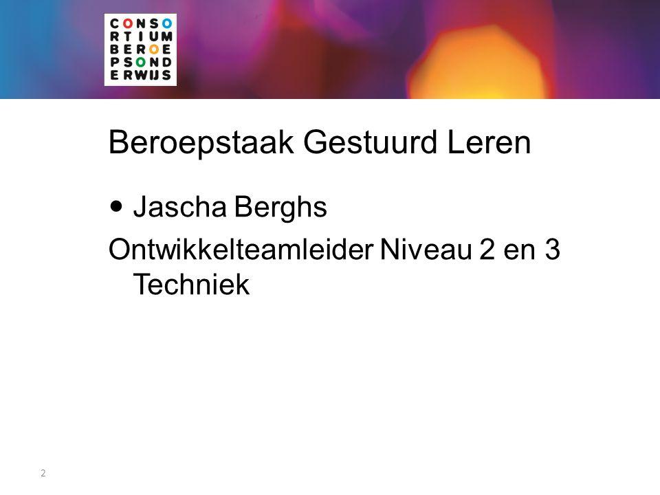 Beroepstaak Gestuurd Leren Jascha Berghs Ontwikkelteamleider Niveau 2 en 3 Techniek 2