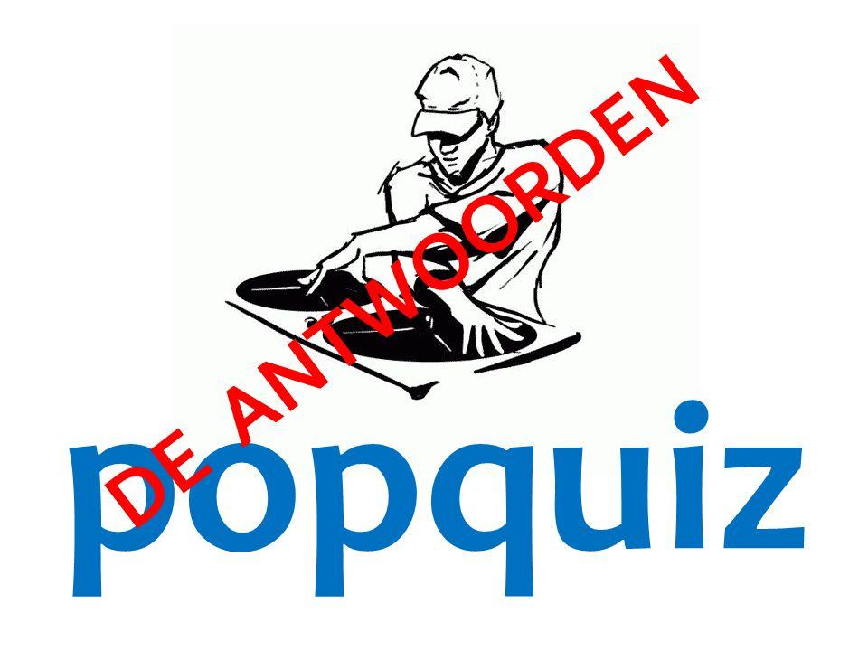 popquiz DE ANTWOORDEN