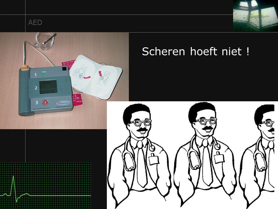 18 AED Scheren hoeft niet !