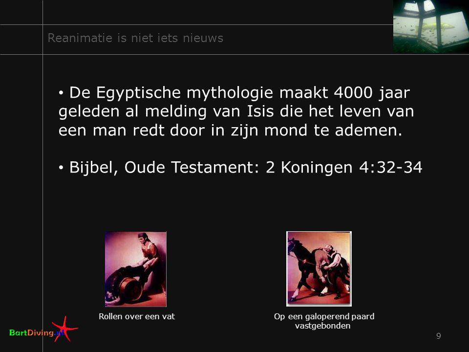 9 Reanimatie is niet iets nieuws De Egyptische mythologie maakt 4000 jaar geleden al melding van Isis die het leven van een man redt door in zijn mond