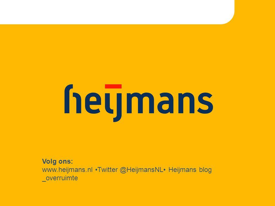 Volg ons: www.heijmans.nl Twitter @HeijmansNL Heijmans blog _overruimte